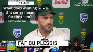 'This means a lot to us': du Plessis