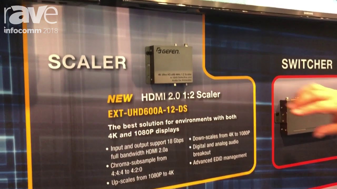 InfoComm 2018: Gefen Showcases Its EXT-UHD600A-12-DS HDMI 2 0 1x2 Scaler