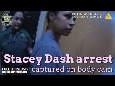 Stacey Dash arrest in Florida captured on body cam