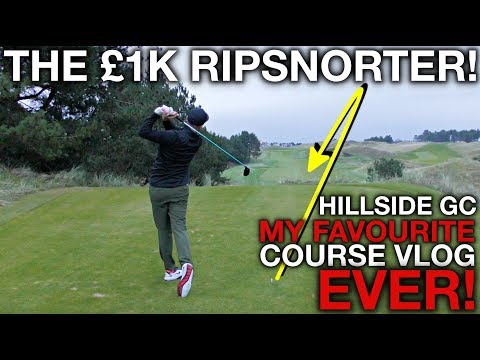 THE £1K RIPSNORTER! (My favourite course vlog ever) Me, Rick, Carter, and Fryer - Hillside GC
