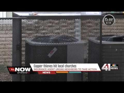 Thieves target AC units at local churches