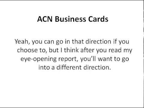 Acn business cards youtube reheart Choice Image