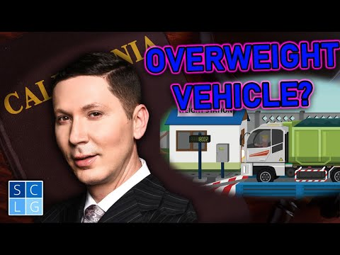 Go to jail for an overweight vehicle? (Vehicle Code 35551 VC)