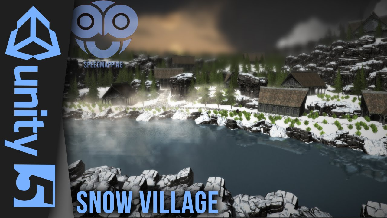 Unity 5 - Snow Village - Sdmapping - YouTube on