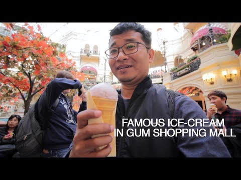 Ice-cream in GUM mall, Moscow : Russia Travel Vlog Ep. 04