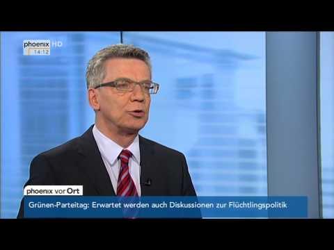 Studiogespräch: Thomas de Mazière zur Auswirkung des IS am 21.11.2014