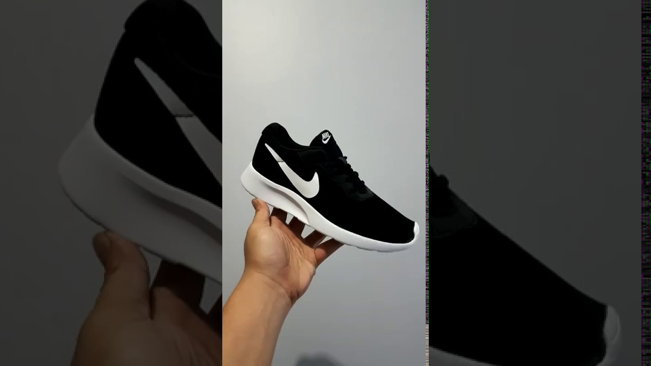 promo code 79caa 248d2 Sepatu Nike Tanjun Original Black White - Sneakers Casual - YouTube