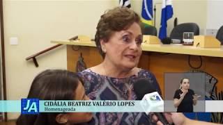 Jornal Acontece - Título de Cidadã Araraquarense a Cidália Lopes