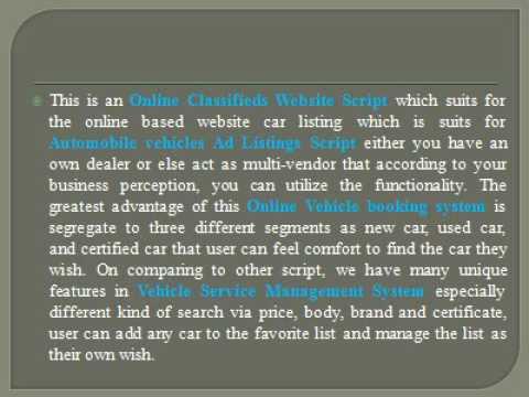 Online Classifieds Website Script | Automobile vehicles Ad Listings Script - i-net