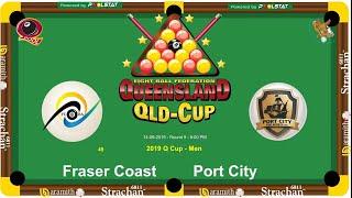 2019 Q-Cup Mens 8 Ball Teams - Fraser Coast v Port City