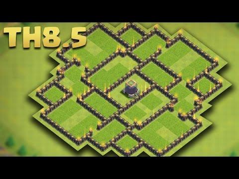 Clash of Clans - Town Hall 8.5/8.75 Dark Elixir Farming Base (TH9 No Xbow DE Base) 2016