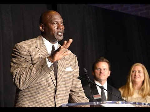 Michael Jordan tears up after receiving business award
