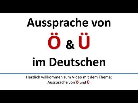 Deutsch: Aussprache von Ö, Ü deutsche UntertitelPronunciation of Ö, Ü German subtitles