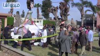 بالفيديو : الهيئة الهندسية للقوات المسلحة تنجح فى نقل تمثال رمسيس إلى المتحف المصري بنجاح