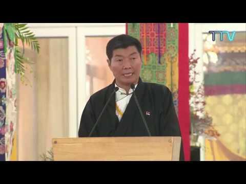 Welcome Address by Honorable Sikyong Dr. Lobsang Sangay at the 34th Kalachakra Initiation