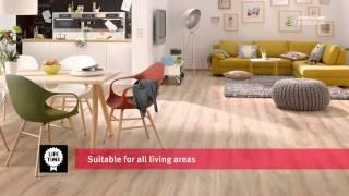 видео Водостойкий ламинат для кухни и ванной
