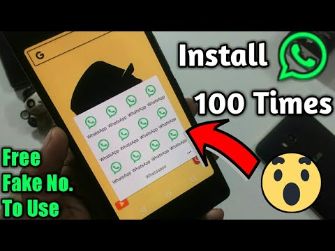 Install WhatsApp Unlimited Times And Use With Fake No. 😱 FREE  || Tech4X