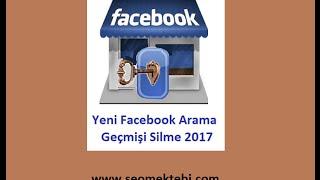 Yeni Facebook Arama Geçmişi Silme
