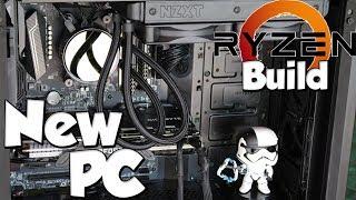 New PC Build   Ryzen Build   NZXT Kraken Series Watercooer in Phanteks Evolv Atx Tempered Glass
