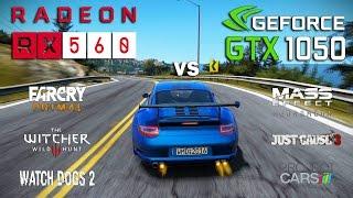 rX 560 vs GTX 1050 Test in 6 Games (Ryzen 1500x)