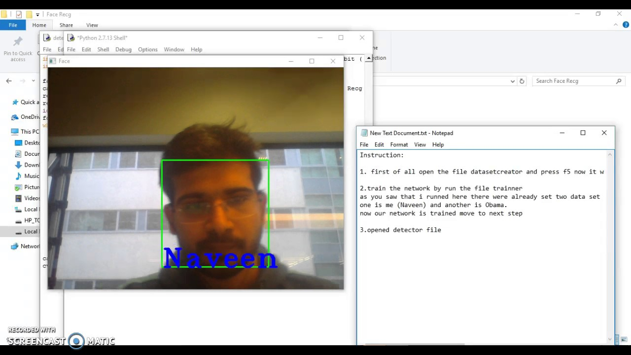 Face Recognition with Python 2 7 13 and OpenCV 2 4 11 using LBPH Algorithm