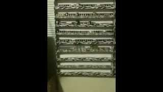Foam board pigment storage