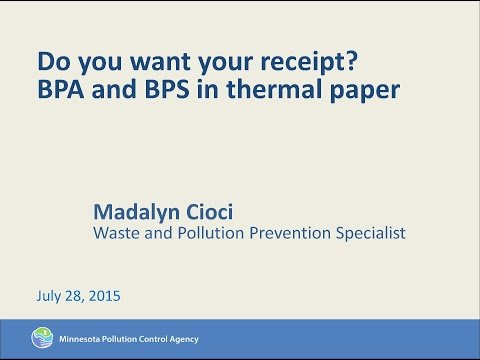 Do You Want Your Receipt? Reducing Occupational Exposure to BPA and BPS