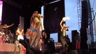Machel Montano & Angela Hunte SOS Fete 2015 Toronto Canada