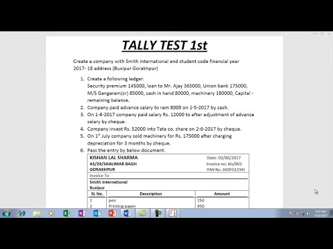 Tally final test 1 - YouTube