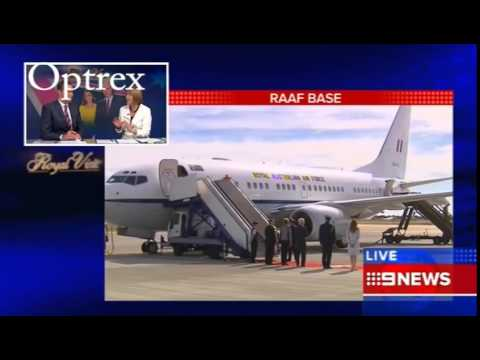 Royals Arrive In Adelaide, South Australia   FULL Arrival Footage