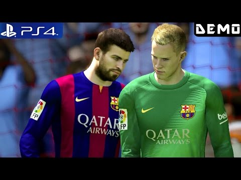 Fifa 15 - Gameplay Demo PS4 FC Barcelona vs Manchester City 1080p (PS4 Demos)