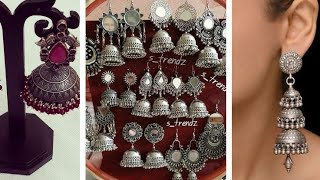 New Trending designs of silver oxidised traditional jhumka/ earring /bali designs ideas