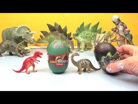 dino-puzzles-3d-dinosaur-surprise-eggs-toys-tyrannosaurus-rex-stegosaurus-t-rex-huevos-sorpresa-kids