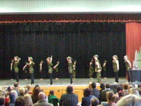 YSGOL DEWI SANT SCHOOL, Y RHYL, DISCO DANCE TEAM WINNING THE URDD COUNTY EISTEDDFOD STAGE 2013