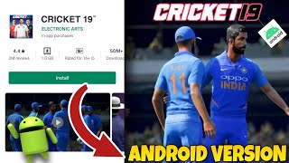 Cricket 19 Download for Android / How to Play in Android /Cricket 19 for Android/Cricket 19 Gameplay screenshot 5