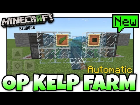 Minecraft  EASY KELP FARM  Automatic  Tutorial  MCPE  Xbox  Bedrock  Switch