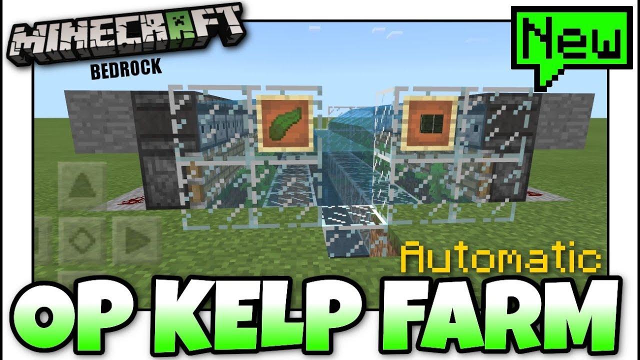 Minecraft Bedrock KELP FARM 🍃 Automatic 🍃 Tutorial PS4