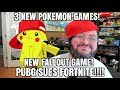 Gaming News: 3 New POKEMON games! New Fallout 76! Pubg SUES Fortnite!