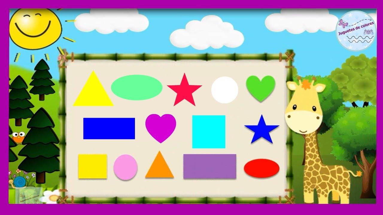 Aprender Formas Y Colores Para Ninos De Preescolar Figuras