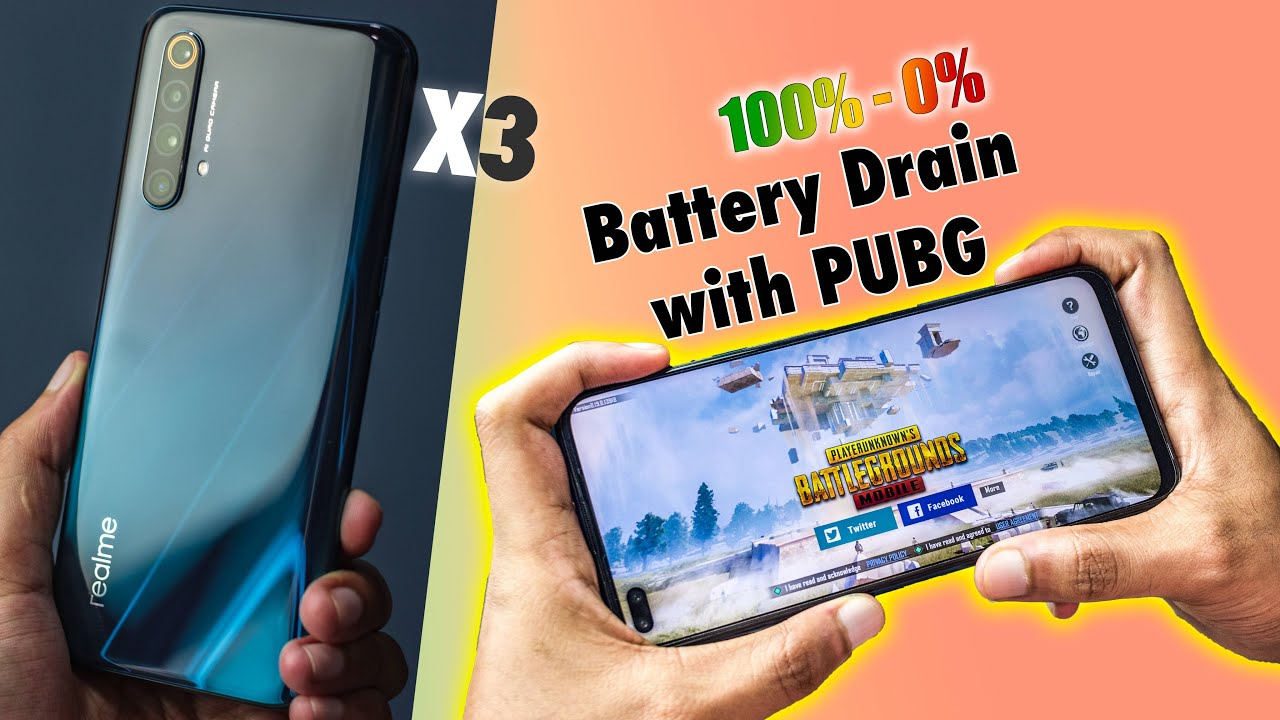 Realme X3 - 4Hrs+ PUBG Gameplay Battery Drain Test {100% - 0%} (SD 855+)