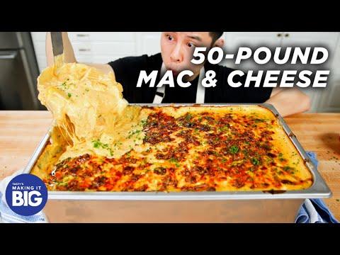 I Made Giant 50-Pound Mac & Cheese • Tasty