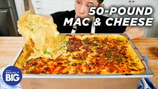 I Made Giant 50-Pound Mac & Cheese • Tasty