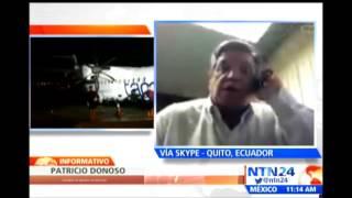 """""""Venezuela es un país que se cae a pedazos"""": asambleísta ecuatoriano sobre aerolínea"""