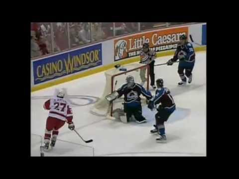 Wings score 7 in Game 7 vs Colorado (2002)