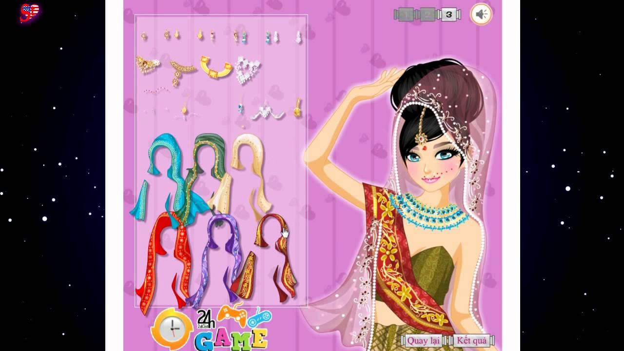 Game Thời Trang Cô dâu Ấn Độ
