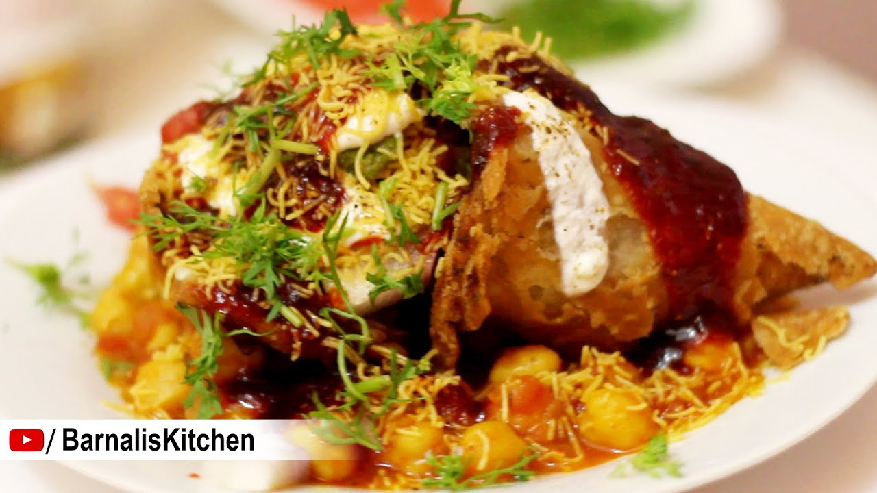 Samosa chaat indian street foods indian chat ideas chole samosa youtube premium forumfinder Choice Image