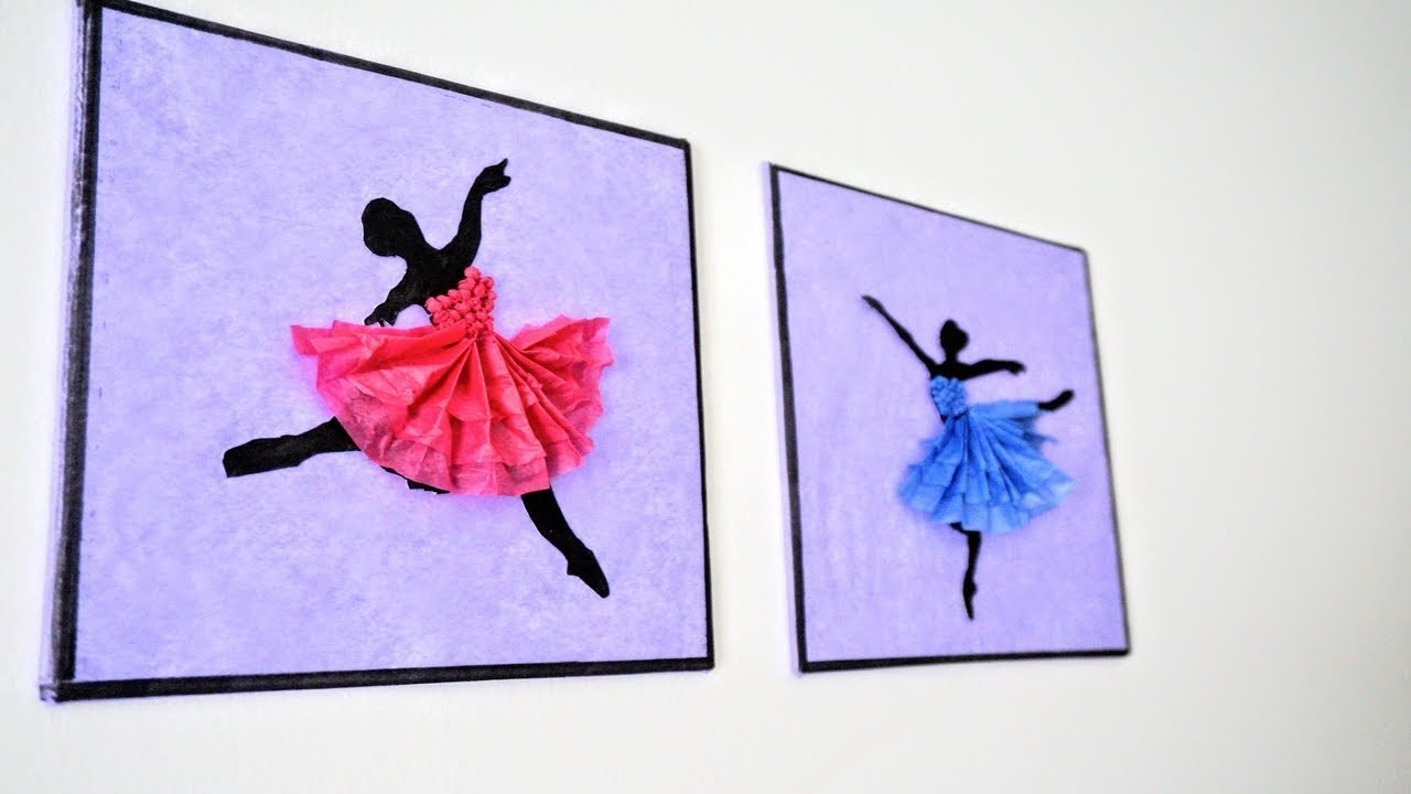 Ballerina Hanging Wall Decor Diy Handmade Paper Craft Home Decoration Ideas Art And Craft Youtube