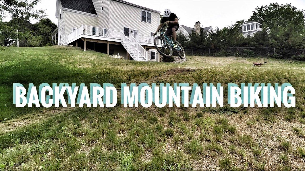 Mountain Bike Trail in the backyard = family fun (It's a family friendly  video sorta)