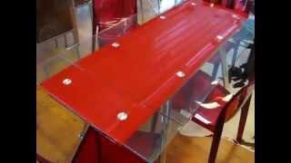 Стол обеденный Чикаго красный