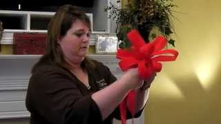 How to Hand Tie A Christmas Bow for Wreath or Garland